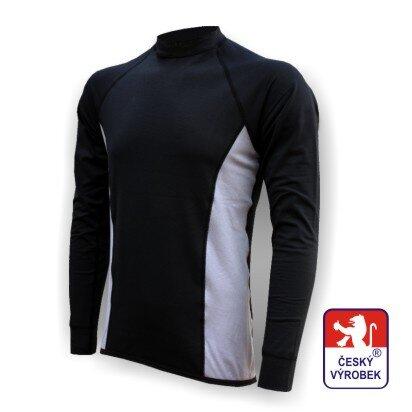 Pánské funkční tričko dlouhý rukáv – černo-šedá