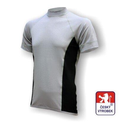 Pánské funkční tričko krátký rukáv – šedo-černá