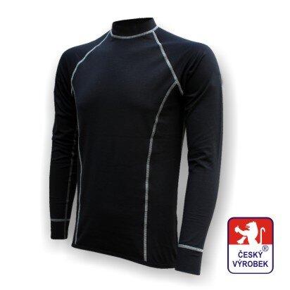 Pánské funkční tričko dlouhý rukáv – černá