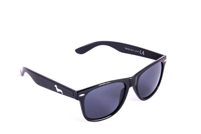 Černé matné brýle Kašmir Wayfarer - skla tmavá