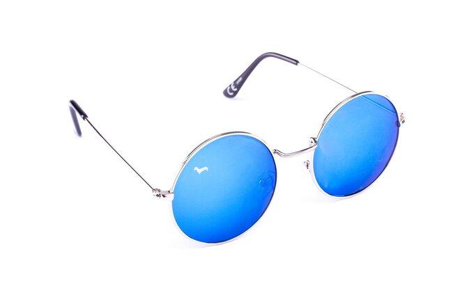 Stříbrné brýle Kašmir Lennon - skla modrá zrcadlová