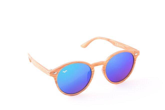 Světle hnědé brýle Kašmir Nyasa WS - skla modrá zrcadlová