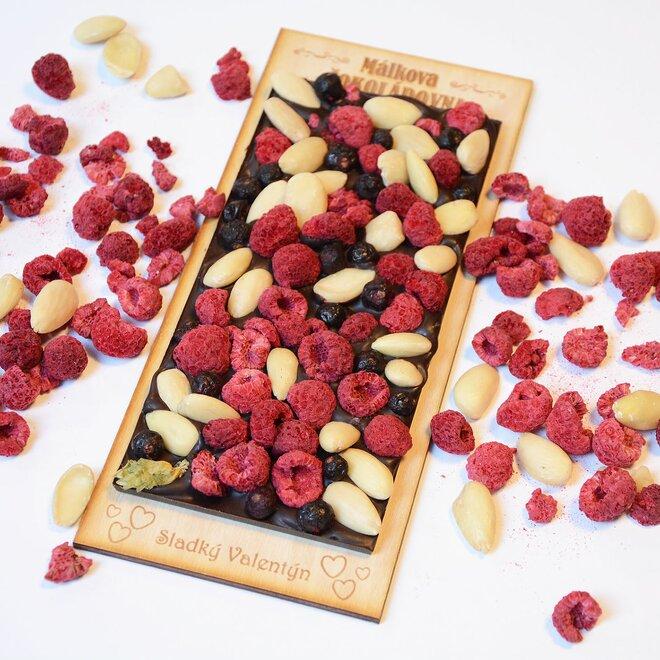 Čokoláda tmavá se směsí ořechů a ovoce - velká