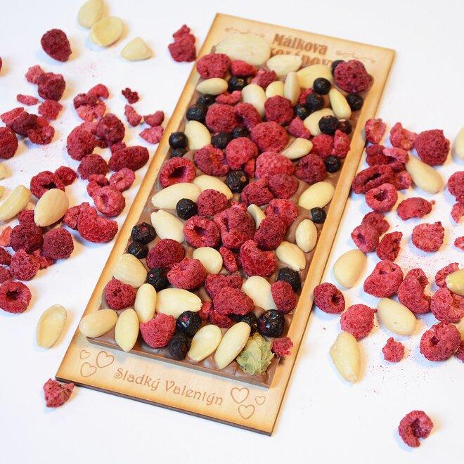 Čokoláda mléčná se směsí ořechů a ovoce - velká