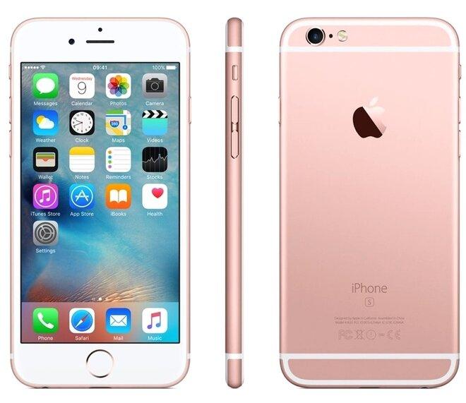 Zánovní Apple iPhone 6S Rose Gold, kategorie: A