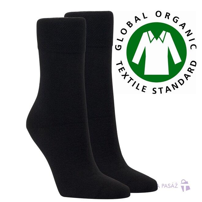 2x bio unisex ponožky (2x černá)