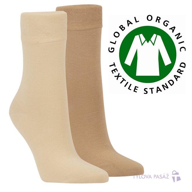 2x bio unisex ponožky (béžová, písková)
