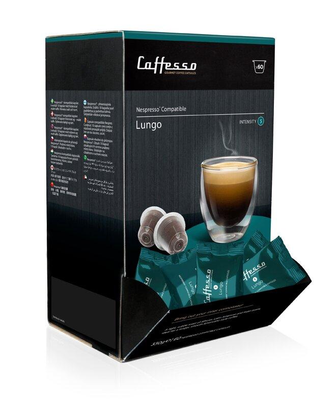 60 kapslí Caffesso Lungo