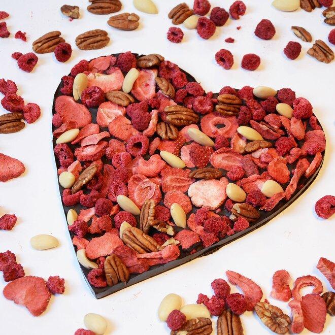 Hořká čokoláda (72%) se směsí ovoce a oříšků, 250 g