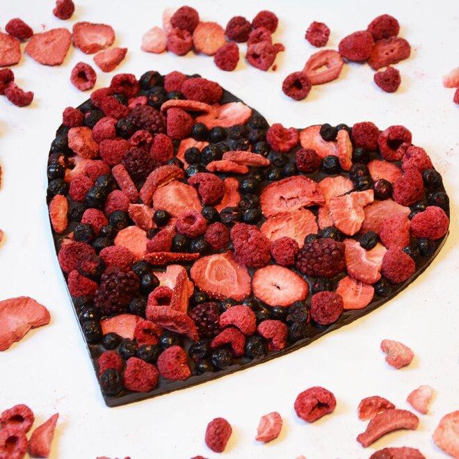 Hořká čokoláda (72%) se směsí ovoce, 250 g