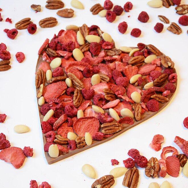 Mléčná čokoláda (34%) se směsí ovoce a oříšků, 250 g