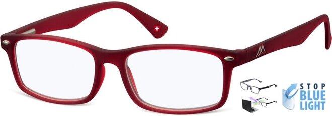 Brýle na počítač BLF83 - červené