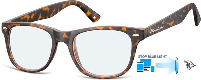 Brýle na počítač BLF67A - hnědé