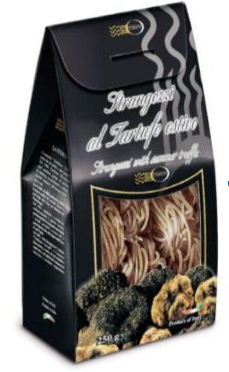 Těstoviny strangozzi s černým lanýžem, 250 g