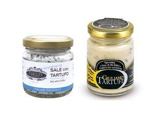 Lanýžové máslo s kousky černého lanýže, 75 g + jemná mořská sůl s černým lanýžem, 100 g