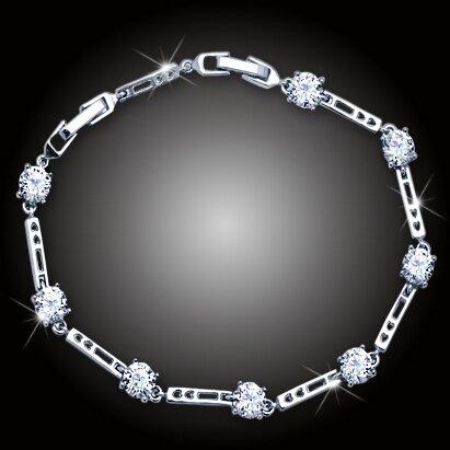 Náramek Sweetheart s třpytivými krystaly
