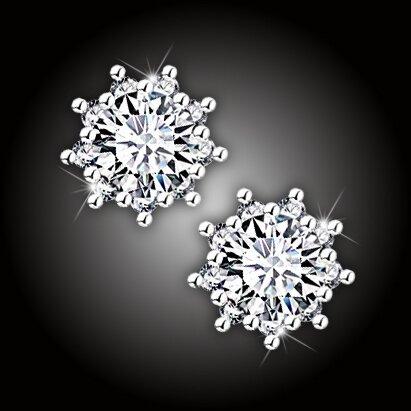 Náušnice Brillance Crystal Flower