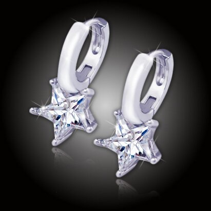 Náušnice Brillance Crystal Star