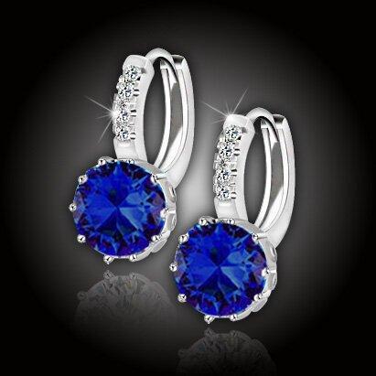 Náušnice Brillance Comtessa – Royal Blue