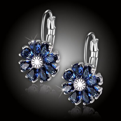 Náušnice Brillance Marquise – Royal Blue