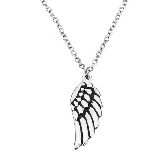 Ocelový řetízek a přívěsek andělské křídlo