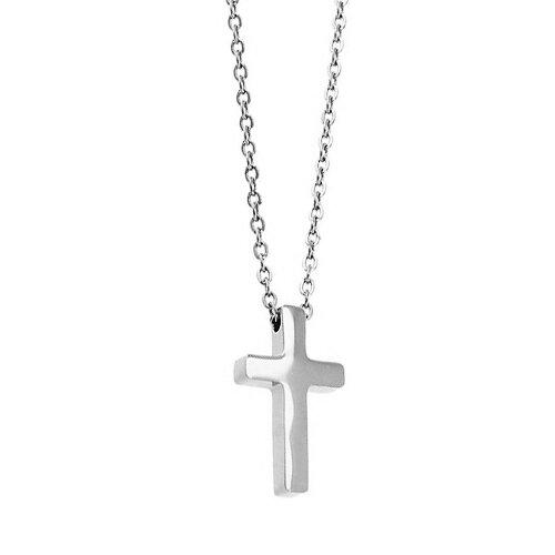 Ocelový řetízek a přívěsek křížek