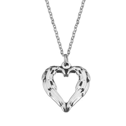 Ocelový řetízek a přívěsek srdce
