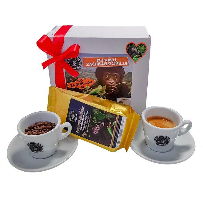 """Dárková krabička """"Pij kávu, zachraň gorilu"""""""