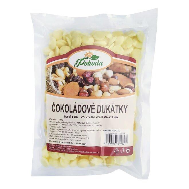Dukátky z bílé čokolády, 250 g