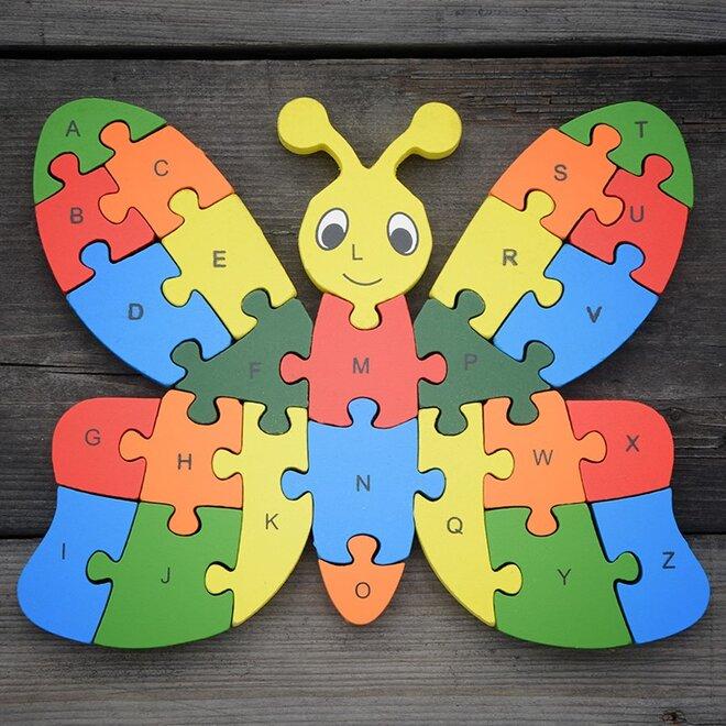 Dřevěné puzzle - Motýl