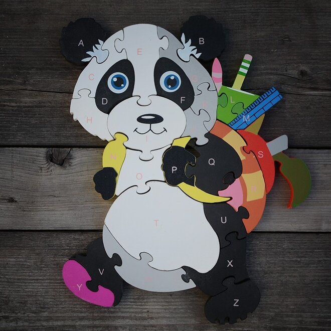 Dřevěné puzzle - Panda