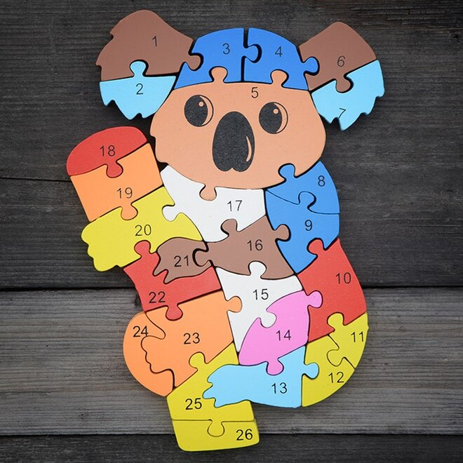 Dřevěné puzzle - Koala