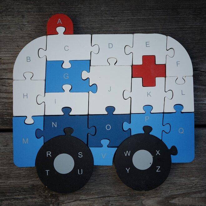 Dřevěné puzzle - Ambulance