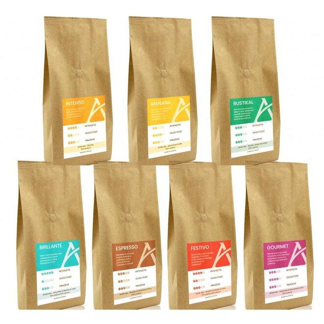 Degustační balení kávových směsí Alesio