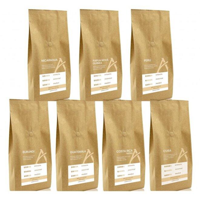 Degustační balení jednodruhových káv Alesio (100% arabika)