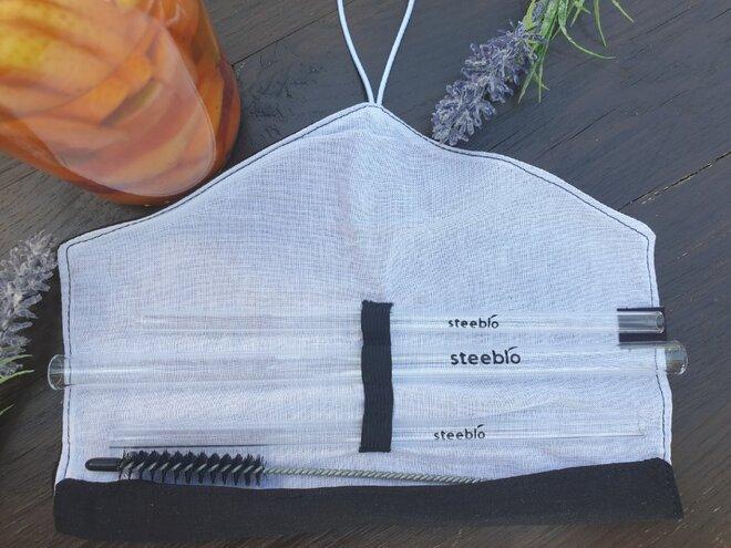 Steeblo Be Straw set - černobílý