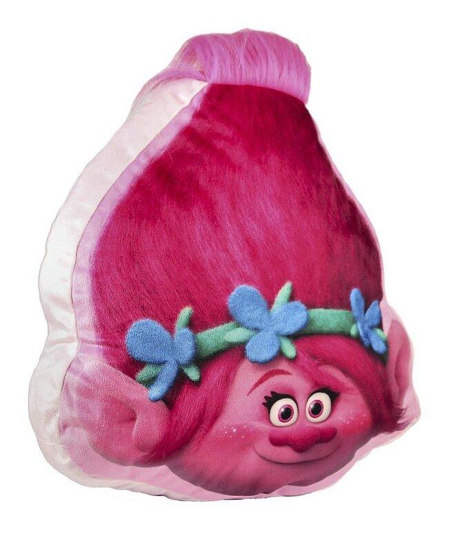 3D polštář Trollové (Cer 175) – růžovo-malinový