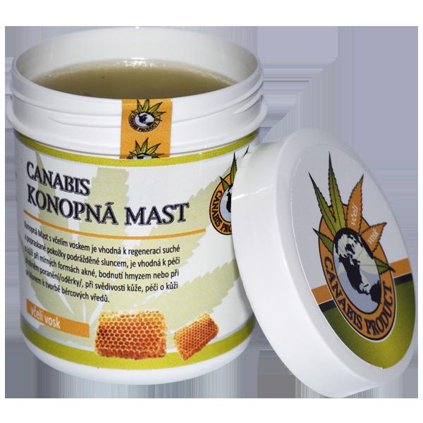 Konopná mast s včelím voskem