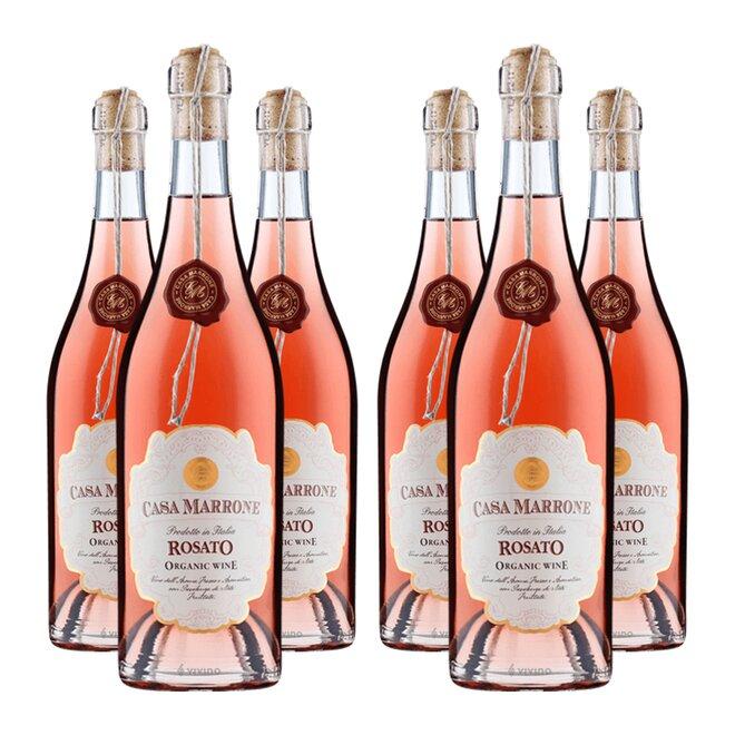 Set 6 lahví Casa Marrone BIO Rosato