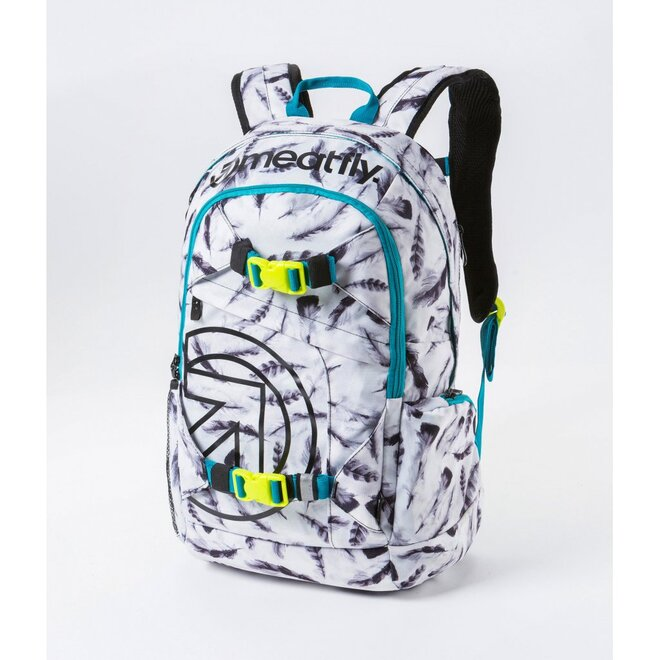 Batoh Meatfly Basejumper 3 20L N – Feather White Print