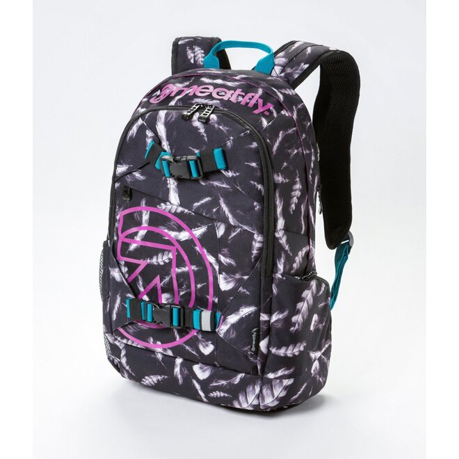 Batoh Meatfly Basejumper 3 20L M – Feather Grayscale Print