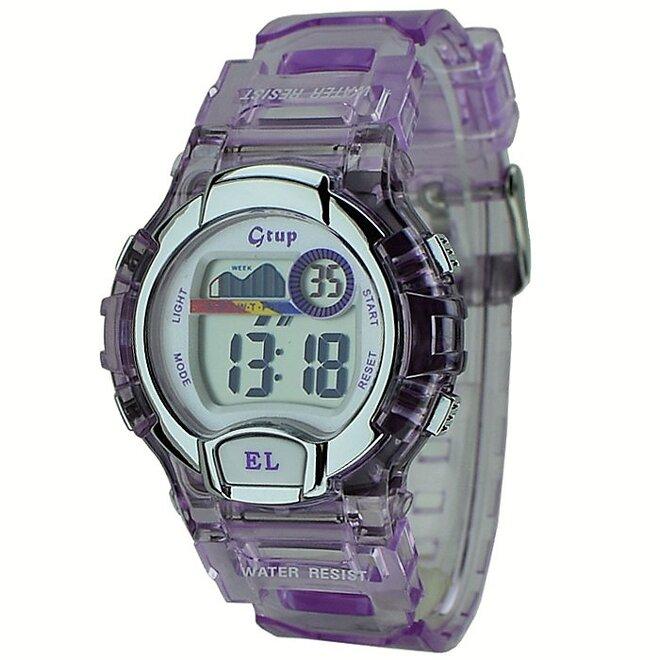 Dětské sportovní hodinky Gtup 1090 fialové