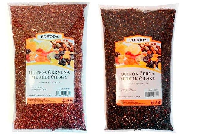 Quinoa červená 500, g + quinoa černá, 500 g