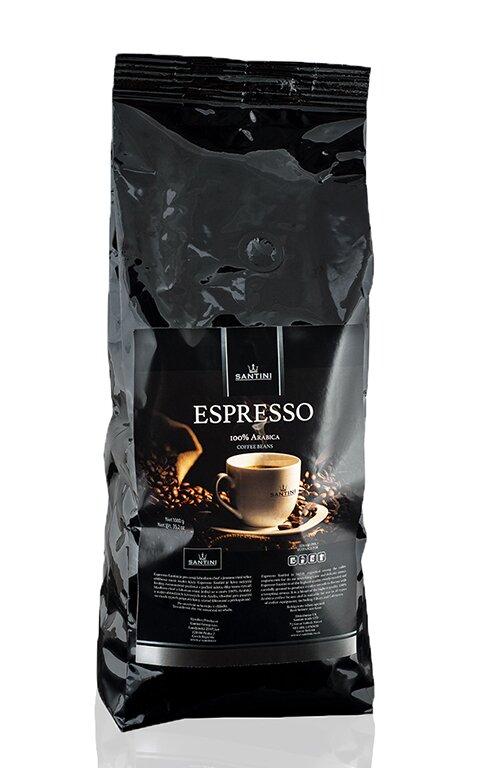250 g zrnkové kávy Santini Espresso
