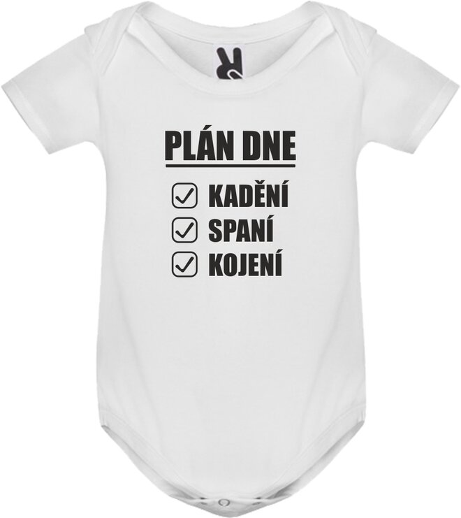 Body tričko Plán dne