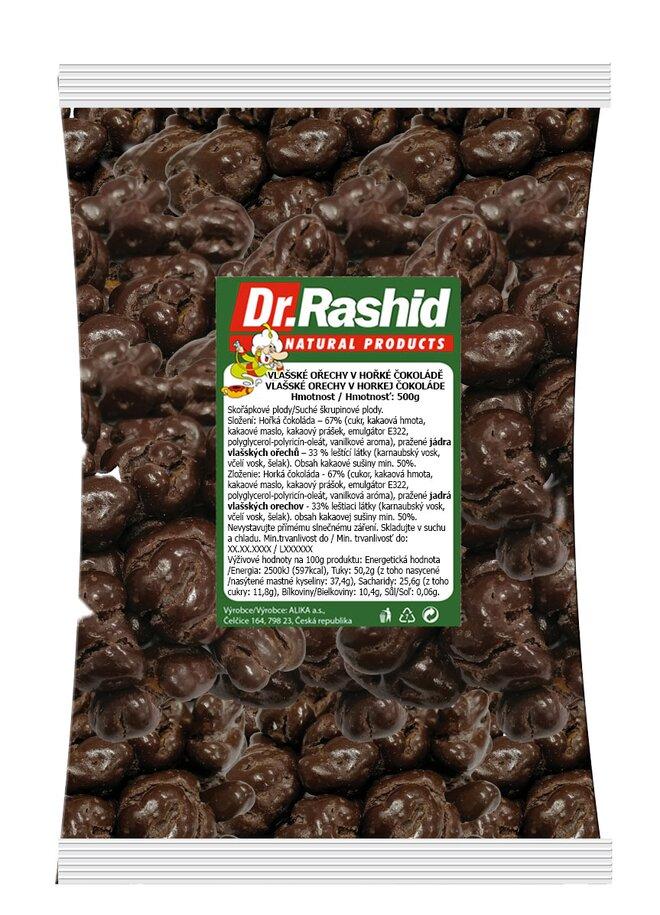 Vlašské ořechy v hořké čokoládě, 500 g