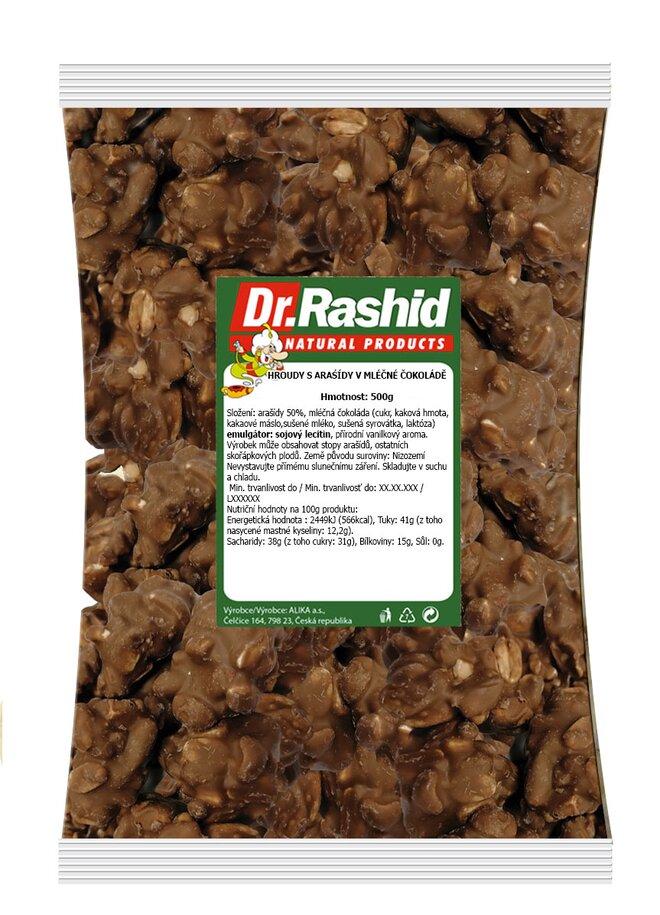 Mléčné čokohroudy s arašídy, 500 g