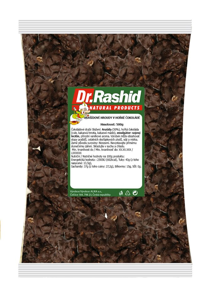 Hořké čokohroudy s arašídy, 500 g
