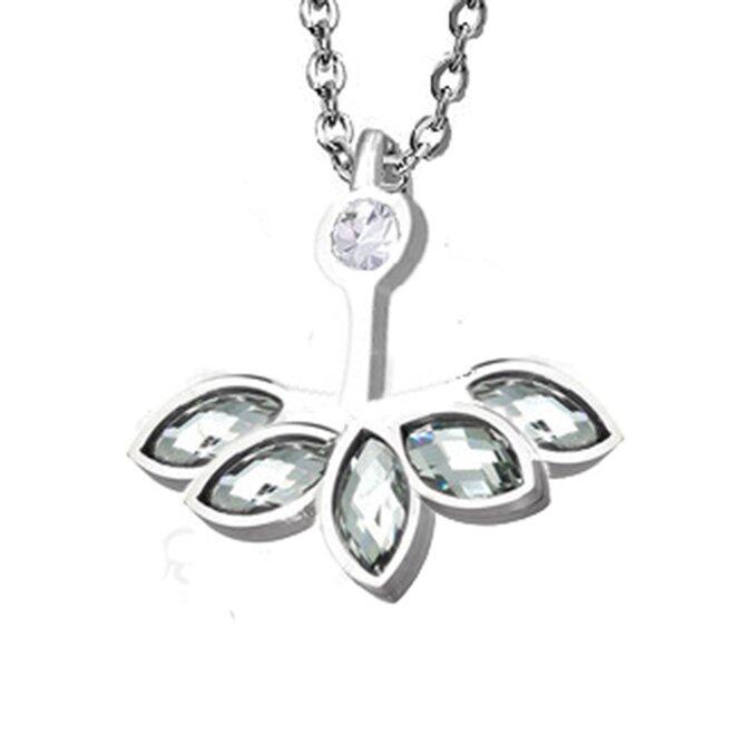 Náhrdelník s krystaly Elements - Lotosový květ - joga