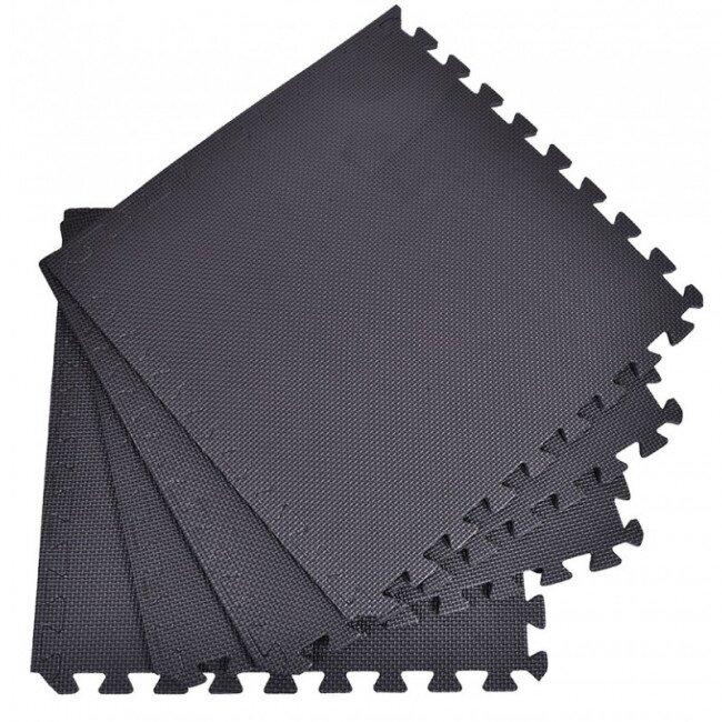 Pěnový koberec jednobarevný, černý
